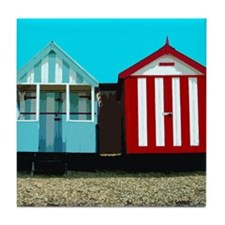 Beach Hut 1 Tile Coaster