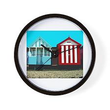 Beach Hut 1 Wall Clock