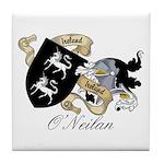 O'Neilan Family Crest Tile Coaster