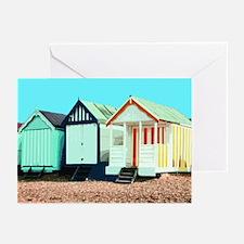 Beach Hut 3 Greeting Cards (Pk of 10)