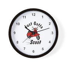 Just Gotta Scoot Classic Wall Clock