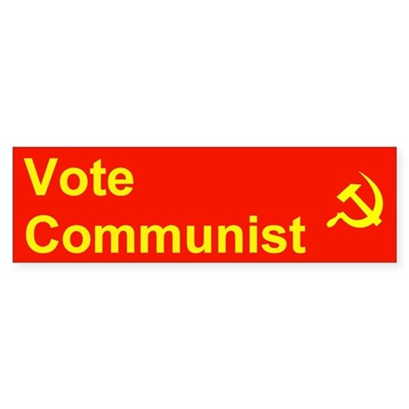 Vote Communist Bumper Sticker