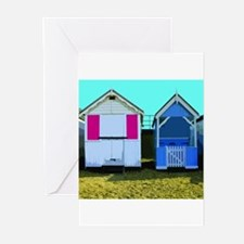 Beach Hut 10 Greeting Cards (Pk of 10)