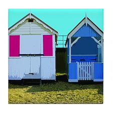 Beach Hut 10 Tile Coaster