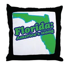 Florida: America's Wang Throw Pillow
