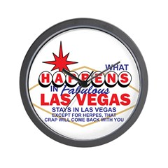 What Happens In Vegas Wall Clock