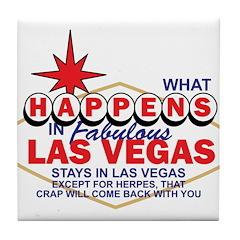 What Happens In Vegas Tile Coaster