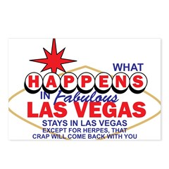 What Happens In Vegas Postcards (Package of 8)