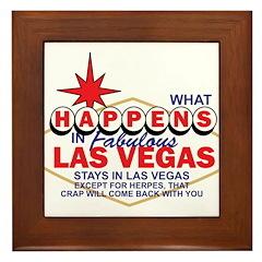 What Happens In Vegas Framed Tile