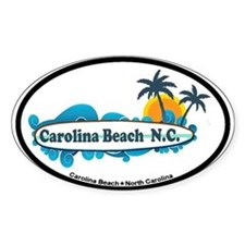 Carolina Beach NC - Surf Design Decal