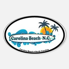 Carolina Beach NC - Surf Design Sticker (Oval)
