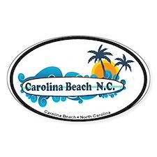 Carolina Beach NC - Surf Design Stickers