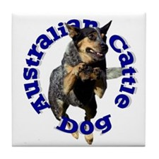 Cattle Dog House Tile Coaster