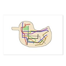 Subway Map Postcards (Package of 8)