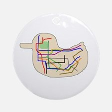 Subway Map Ornament (Round)