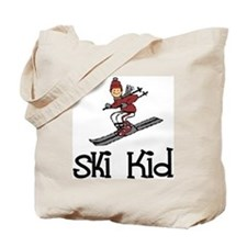 Ski Kid Christopher Tote Bag