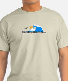 Carolina Beach NC - Waves Design T-Shirt