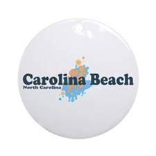 Carolina Beach NC - Seashells Design Ornament (Rou