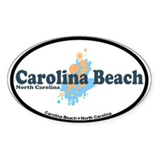 Carolina Beach NC - Seashells Design Decal