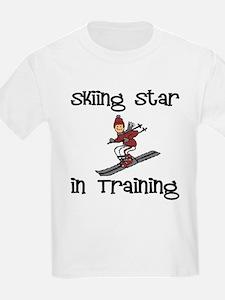 Skiing Star in Training Christopher Kids T-Shirt