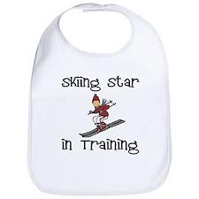 Skiing Star in Training Christopher Bib