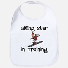 Skiing Star in Training Christopher Bib