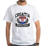 Croatian Mens Classic White T-Shirts