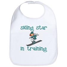 Skiing Star in Training Abigail Bib