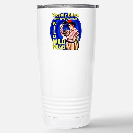 Wild Polka Clown Stainless Steel Travel Mug