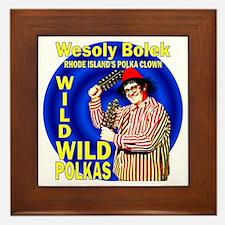Wild Polka Clown Framed Tile
