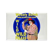 Wild Polka Clown Rectangle Magnet