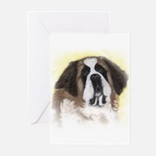 Saint Bernard in pastel Greeting Cards (Package of