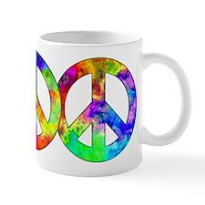Retro tie-dyed peace sign Mug
