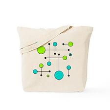 Lime & Teal Dot Dash Tote Bag