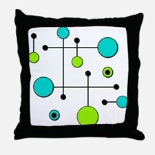 Lime & Teal Dot Dash Throw Pillow
