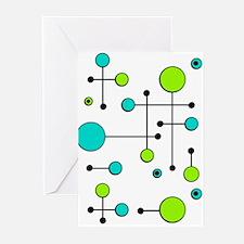 Lime & Teal Dot Dash Greeting Cards (Pk of 10)
