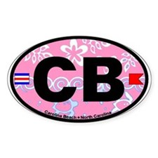 Carolina Beach NC - Oval Design Decal