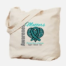 AwarenessMatters TealRibbon Tote Bag