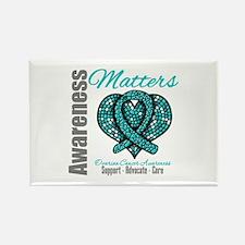 AwarenessMatters TealRibbon Rectangle Magnet