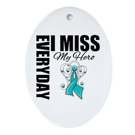 MissMyHero OvarianCancer Ornament (Oval)