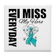MissMyHero OvarianCancer Tile Coaster