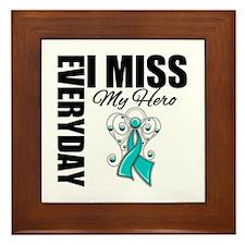 MissMyHero OvarianCancer Framed Tile