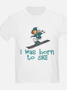 Born to Ski Abigail Kids T-Shirt