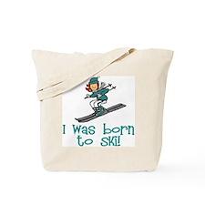 Born to Ski Abigail Tote Bag