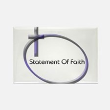 Cute Religious statement Rectangle Magnet
