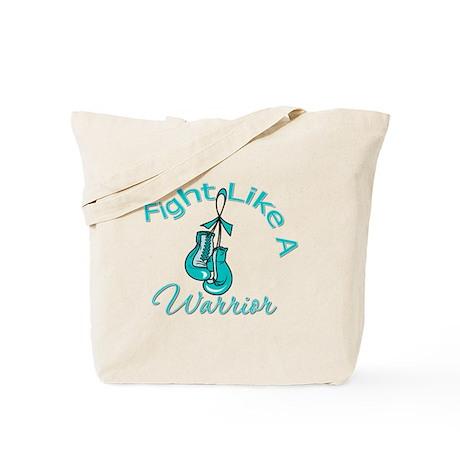 FightLikeAWarrior TealRibbon Tote Bag