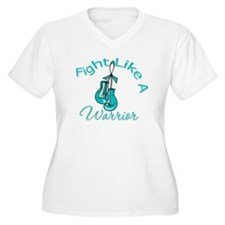 FightLikeAWarrior TealRibbon T-Shirt
