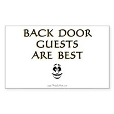 Back Door Guests Sticker (Rect.)