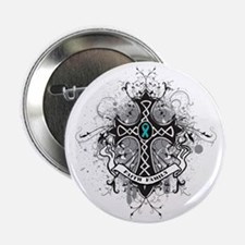 "OvarianCancer FaithCross 2.25"" Button"
