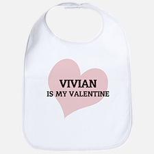 Vivian Is My Valentine Bib